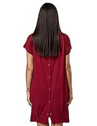 快乐妈妈。 女式 Labor Delivery Hospital Gown 哺乳孕妇。 097p 烈红色 US 6/8