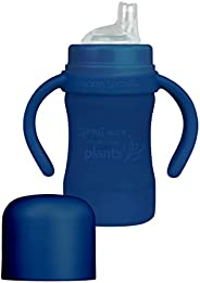green sprouts Sprout Ware 鴨嘴杯 植物材質   *植物性塑料吸管杯 不含雙酚 A、BPS、Bpf   無滴漏硅膠吸嘴   易抓握手柄,*藍