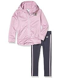 New Balance 女童连帽夹克和紧身裤套装