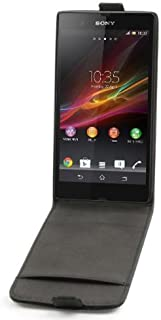 So'axess HPUFLIPXPERIAZL 经典翻盖手机壳适用于索尼 Xperia ZL L35H 黑色