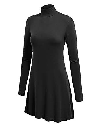 LL Womens Long Sleeve Handkerchief Hem Tunic - Made in USA Wt992_black XXX-Large