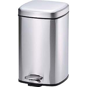 和平 Freiz 踏板式垃圾桶 不锈钢 12L BOJIRUNA MJ-0628