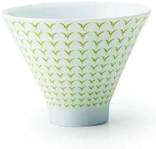YAMAYA 茶白 朝颜形煎茶碗 新芽黄绿 35171426