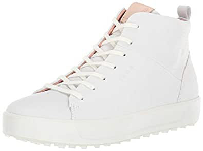 ECCO 女士 Soft High Hydromax 高尔夫球鞋 白色 41 M EU (10-10.5 US)
