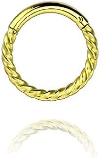Covet Jewelry 316L *钢漩涡扭转铰链式表情戒指,适用于九月、三叶草、三叶草