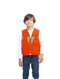 TrailCrest 儿童 Blaze Orange Deluxe Front Loader 狩猎背心