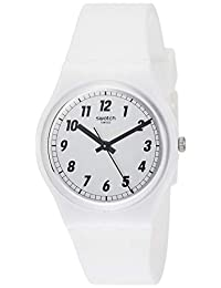 Swatch 女士 Something White GW194 硅胶瑞士石英时尚手表