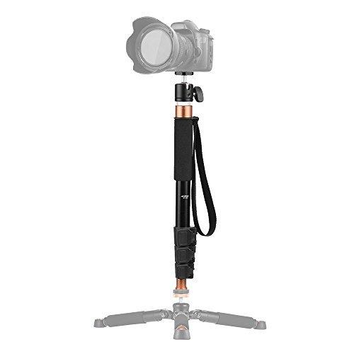 Andoer 4 37.2インチアルミ一脚360度カメラ弾頭は、Canon Nikon Sony DVデジタルカメラに適しており、レバーはマイクに適しています。