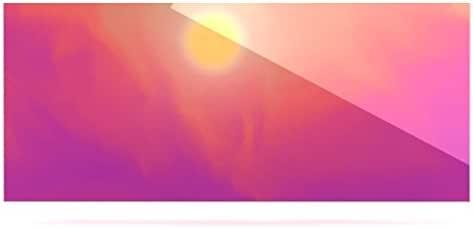Kess InHouse Michael Sussna Yosemite Dawn 粉色橙色铝制浮动艺术板,22.86 x 53.34 厘米