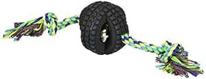 Pet Qwerks Jingle X-Tire 带单绳 绿色 小号