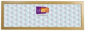 "Vivarti 全景薄橡木表面相框 橡木饰面 36 x 12"""