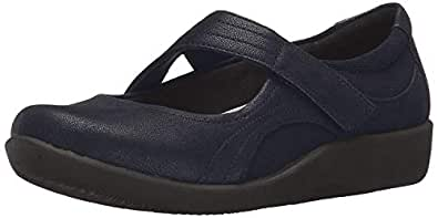 CLARKS 女士 Sillian Bella Mary Jane 鞋 海军蓝(Navy Synthetic) 5