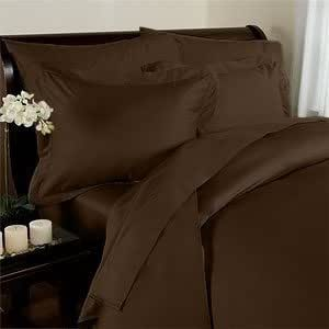 Elegant Comfort 1500 Thread Count Wrinkle Resistant Egyptian Quality 2-Piece Duvet Cover Set, Twin/Twin X-Large, Chocolate Brown