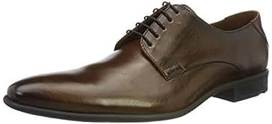 LLOYD 男士鞋 NIK,经典商务低帮鞋,皮革材质,带橡胶鞋底 Braun (Dark Brown 5) 45 EU
