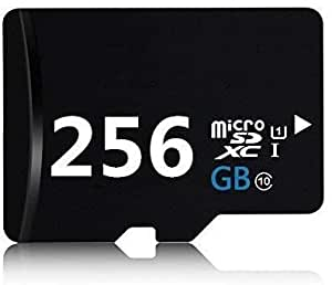 256GB Micro SD SDXC 卡高速 Class 10 存储卡,带 SD 适配器