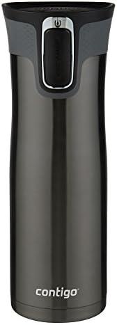 Contigo Autoseal West Loop 康迪克 不锈钢旅行杯带易清洁盖 20盎司 黑色