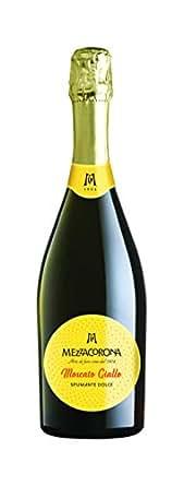 【亚马逊海外直采】意大利 美冠 金莫斯卡托甜型起泡酒 Mezzacorona Moscato Giallo Spumante Vigneti Delle Dolomiti IGT 750ml (意大利品牌)
