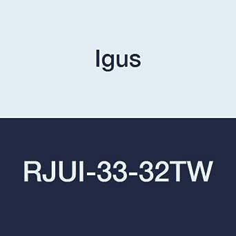 Igus RJUI-33-32TW DryLin R 封闭式双枕头套低间隙自对齐轴承,工程聚合物,2 英寸标称尺寸