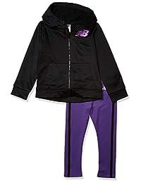New Balance 女童夹克和紧身裤套装