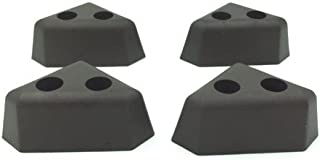 "ProFurnitureParts 1.25"" Tall Triangle Corner Sofa Legs, Brown Color, Set of 4, HDPE Plastic"