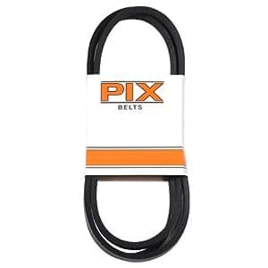 PIX NORTH A96/4L980 1/2x98 黑色橡胶 V 形皮带