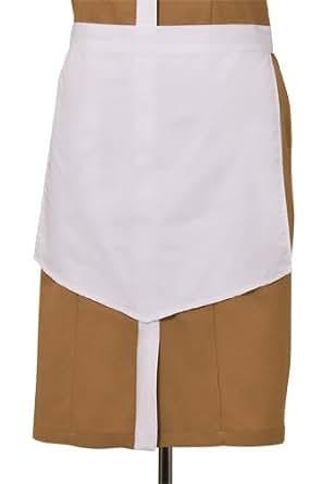 Uniform Works HAPT-WHT-0 女式尖头家用围裙,白色,38.1 cm 长 x 43.18 cm 宽