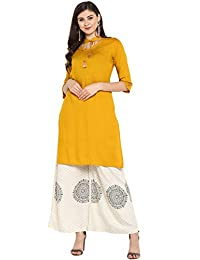 Janasya 印度束腰上衣 人造丝 Kurti 女士套装