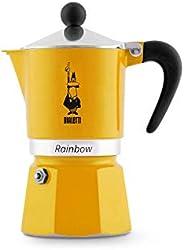 Bialetti 比乐蒂 Rainbow 意式浓缩咖啡壶,铝制,黄色,3杯容量