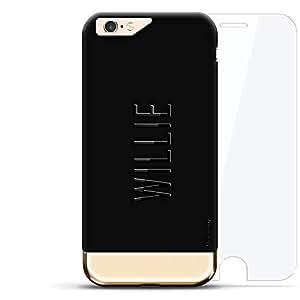 Anonymous MASK FACE 耳道式/入耳式LUX-I6PL24K360-NMWILLIE2 Willie, Modern Font First Name Velvet Black & Gold