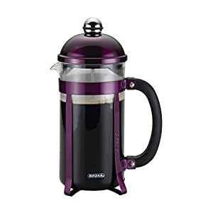 BonJour 咖啡玻璃和不锈钢法式压花器 紫色 8-Cups 51281