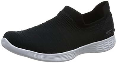Skechers You Define Aurora 女士徒步鞋 黑色/白色 黑色/白色 8.5 M US
