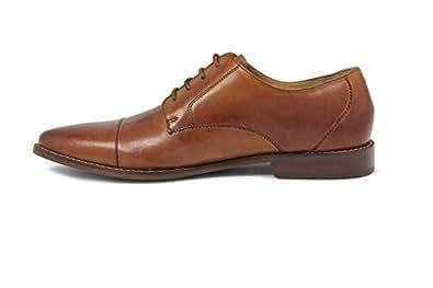 Florsheim 男士 Montinaro 开普托礼服鞋系带牛津鞋 马鞍棕褐色 10 XW US