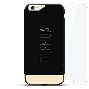 LuxendaryLUX-I624K360-NMGLENDA2 ANCHORS PATTERN DARK iPhone 6 / 6s Velvet Black & Gold