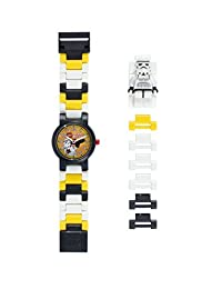 LEGO 乐高 Star Wars 儿童腕表 黑色/白色,塑料,直径28毫米,石英,男女通用,官方