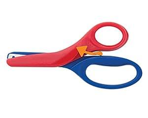 Fiskars 194900-1001 学前训练剪刀,各种颜色 红色/蓝色 1 包 194900-1001