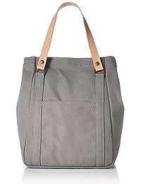 [JAPAN FACTORY] 栃木手提包 帆布包 真皮 男士 女士 灰色 JAB007-Gray