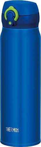 Thermos 膳魔師 水杯 真空隔熱便攜式保溫杯 【一鍵打開式】 0.6升 ブルーライム 0.6L JNL-603 BLL