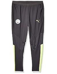 PUMA 男士标准曼彻斯特城市 MCFC 训练裤 PRO,沥青-淡黄色,XL 码