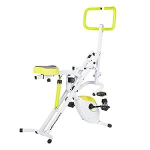 Ultrasport德国2-in-1 Horserider多功能磁阻健身车引体向上器公园健身器材331100000249绿色/白色