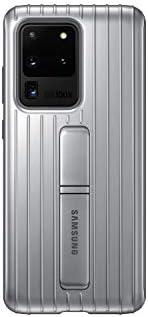 三星 Galaxy S20 Ultra 手机壳,坚固保护壳 - 银色(美国版保修)