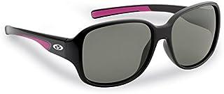 Flying Fisherman 7714BS Pearl Polarized Sunglasses, Black Frames, Smoke Lens