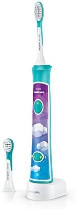 Philips 飞利浦 Sonicare儿童电动牙刷HX6322 / 04,采用声音技术,适用于儿童,温和清洁,绿松石色