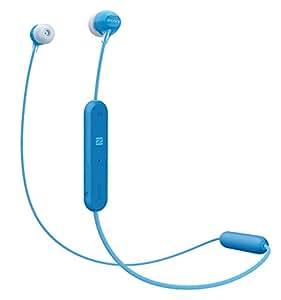 索尼 WI-C300 无线入耳式耳机,颈带设计(蓝牙,NFC,耳机功能,长达 8 小时的电池使用时间)WIC300L.CE7