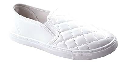Anna 女士休闲舒适一脚蹬绗缝时尚运动鞋 白色 10 M US