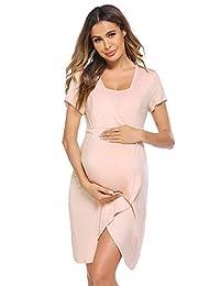 Ekouaer 孕妇睡衣,哺乳连衣裙,*喂养