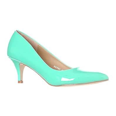 riverberry 女式 Katy 尖头细低跟高跟鞋 Mint Patent 8.5 B(M) US
