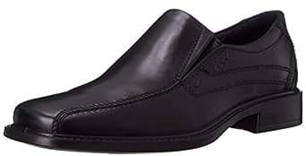 ECCO 男士 New Jersey 乐福鞋,Black,39 EU (US Men's 5-5.5 M)