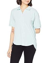 Cecile 套头衫 短袖 防紫外线 吸汗速干 后长款 领口配色 Polo衫风 女士