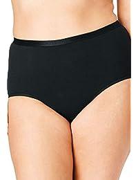Comfort Choice 女式加大码棉质5-pack FULL cut 三角裤