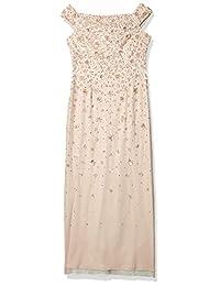 Adrianna Papell 女士露肩串珠礼服